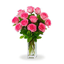 Dozen Pink Roses: Australia Wedding Gifts
