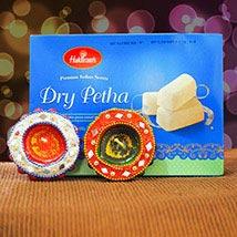 Dry Petha With 2 Diwali Diya Set: Diwali Gifting in Australia