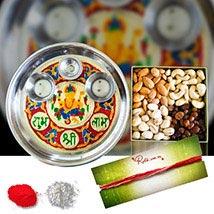 Mix Dry Fruits Tikka Meenakari Thali: Bhai Dooj Gift Delivery in Australia