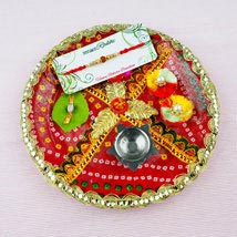 Pyar Bhara Rakhi with Traditional Thali: Send Rakhi to Adelaide