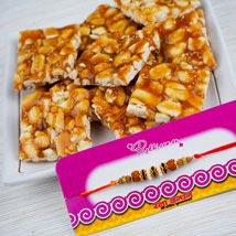 Rakhi With Premium Peanut Chikki: Rakhi Delivery To Australia