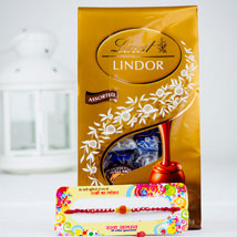 Rakhsa Rakhi With Lindt Chocolate: Rakhi to Perth