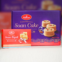 Soan Papdi With Soan Cake: Anniversary Gift Delivery in Australia
