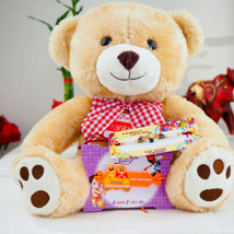 Super Hiro Two Rakhi with Teddy Bear: Send Rakhi to Adelaide