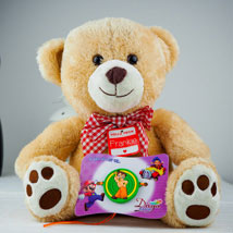 Super Kids Rakhi With Teddy: Send Rakhi to Adelaide