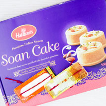 Two Rakhi With Desi Sweet Soan Cake: Send Rakhi to Adelaide