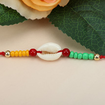 Sea Shell Charm Rakhi BUL: