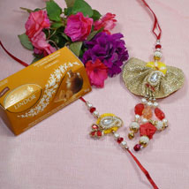 Beautiful Bhaiya Bhabhi Rakhi Lindt Lindor: Send Rakhi to Calgary
