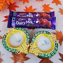 Dairy Milk With 2 Diyas: Diwali Gift Delivery Canada