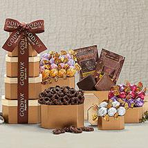 Godiva Chocolate Holiday Gift Tower: Christmas Gift Baskets to Canada