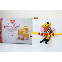 Mickey Mouse Rakhi Hamper: Rakhi with Sweets to Canada