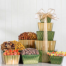 Nut and Sweets Tower: Christmas Gift Baskets to Canada