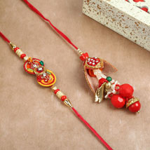 Red Lumba Rakhi Combo: Rakhi to Mississauga