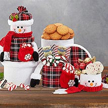 Snowman Tower: Christmas Gift Baskets to Canada
