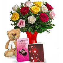 Teddy N Chocolate Greets: Valentines Day Flowers to Canada