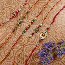 Trendy Rakhi Set Of Five:
