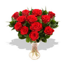 Dozen Red Rose Bouquet: Send Gifts to France