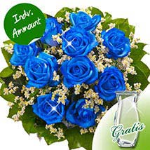 10 blue roses: Anniversary Gifts in Germany