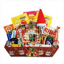Christmas Retro Sweet Gift Basket: Christmas Gifts to Germany