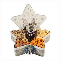 Christmas Star with Nuts: Send Gift Baskets to Germany