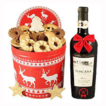 Christmas Tin Box With Red Tuscan: Christmas Gift Delivery Germany