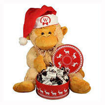 Christmas Treats with Monkey Plush Toy: Gift Hampers to Germany