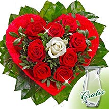 Rose Bouquet Amore with vase: Flower Delivery in Hamburg