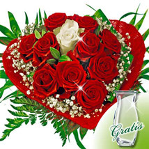 Rose Bouquet Romeo with vase: Flower Bouquets to Germany