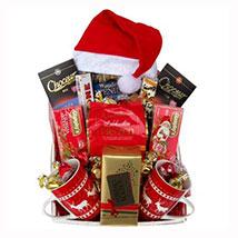 Santa Christmas Tea Basket: Send Gift Baskets to Germany