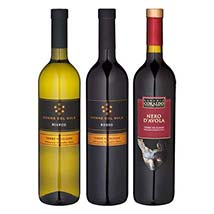 Sicilien gift set with 3 wines: Christmas Gift Hampers to Germany
