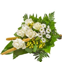 Sympathy Bouquet in White: Send Gifts to Hamburg