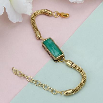 Premium Green Stone Rakhi HUN