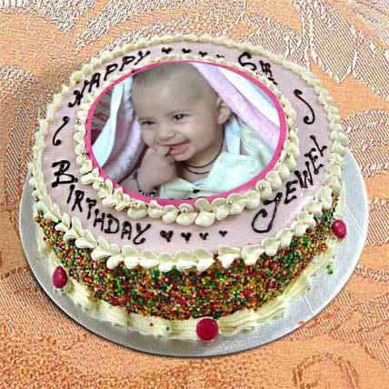 1kg Photo Cake Vanilla Sponge Eggless by FNP