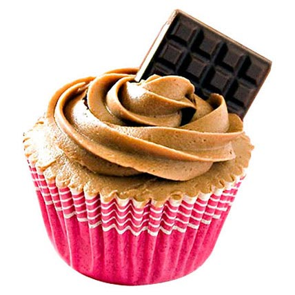 6 Chocolate Cupcakes With Chocolate Bar by FNP