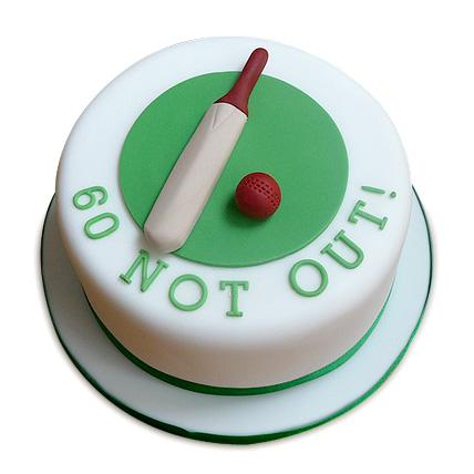 60 Not Out Designer Cake 1kg Eggless Black Forest