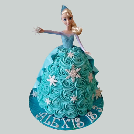 Blue Roses Barbie Cake Chocolate 2kg Eggless