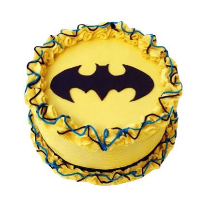 Bright Batman Cake half kg Chocolate