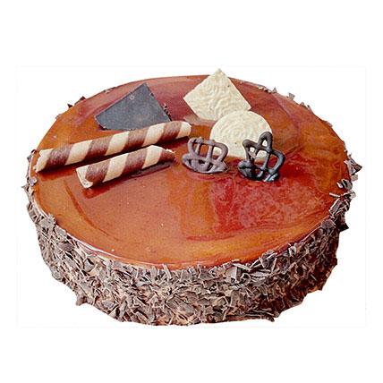 Chocolate Caramel Cake 2 Kg Eggless