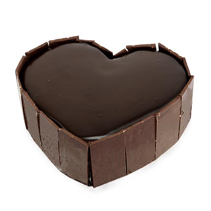 Cute Heart Shape Cake 2kg Eggless
