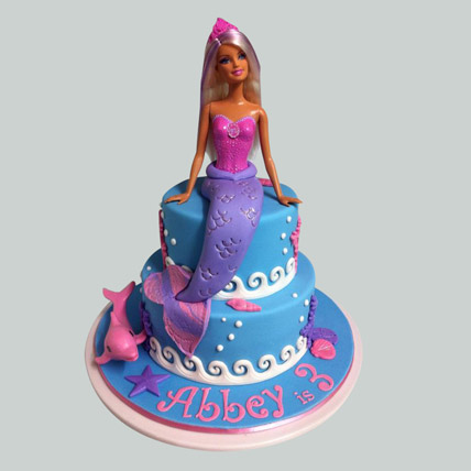 Cute Mermaid Barbie Cake 3kg