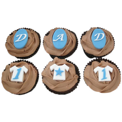 DAD Special Cupcakes 6 Eggless
