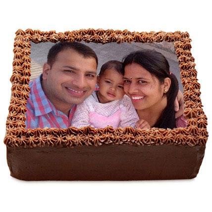 Delicious Chocolate Photo Cake 2kg