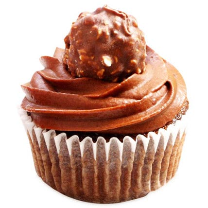 Ferrero Rocher Cupcakes 24 Eggless
