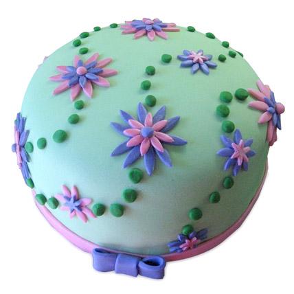 Flower Garden Cake 2kg Eggless Black Forest