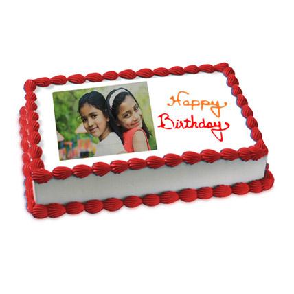 Happy Birthday Photo Cake 2kg by FNP
