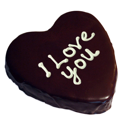 Heart Chocolate Cake Half kg Eggless