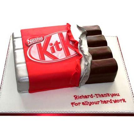 Kit Kat Shaped Cake 3kg Eggless
