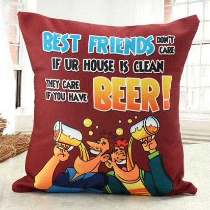 Lets Have Beer Cushion