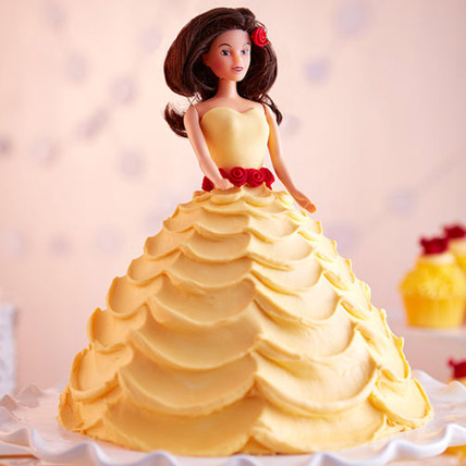 Lovely Barbie Cake Black Forest 3kg Eggless