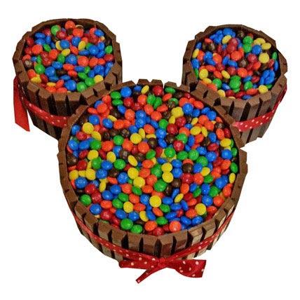 Mickey Mouse Kit Kat Cake 2kg Eggless